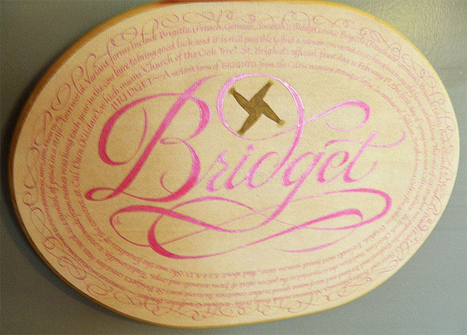 Bridget's Plaque